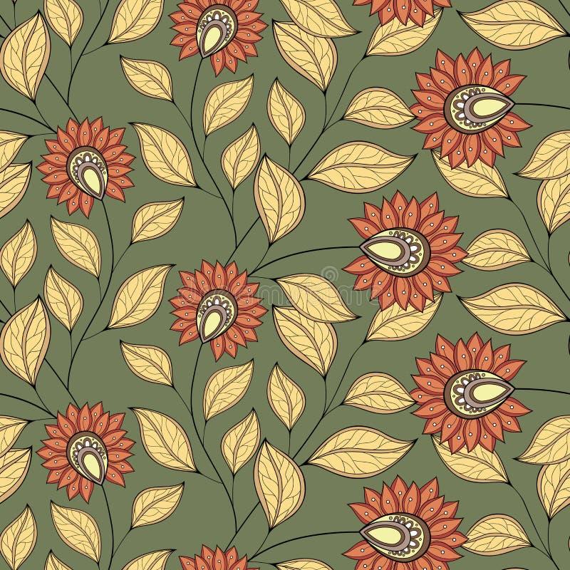 Download Configuration Florale Sans Joint De Vecteur Illustration de Vecteur - Illustration du bourgeonnez, tissu: 56480892