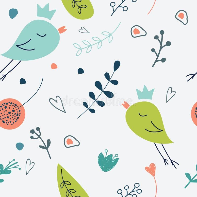 Configuration florale sans joint Illustration d'amour de flowe mignon illustration libre de droits