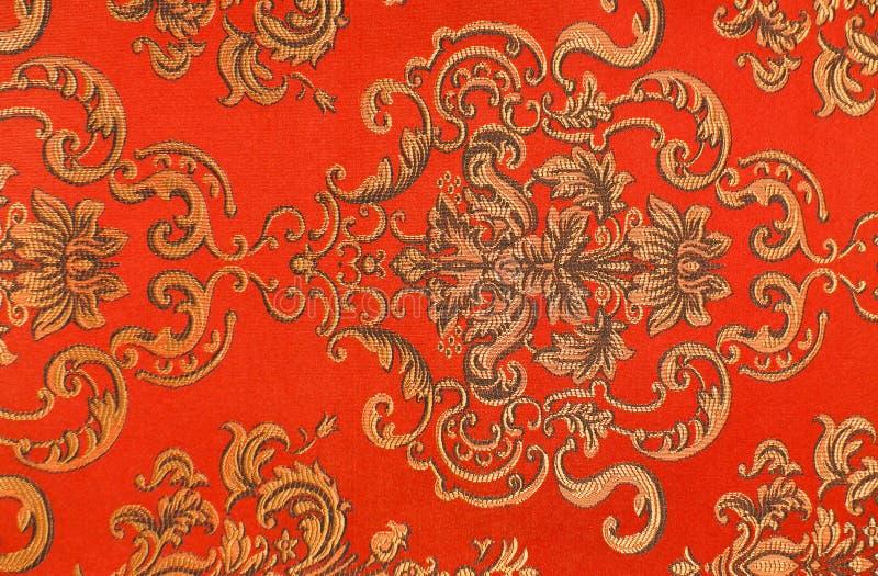 Configuration florale sur le tissu photos stock