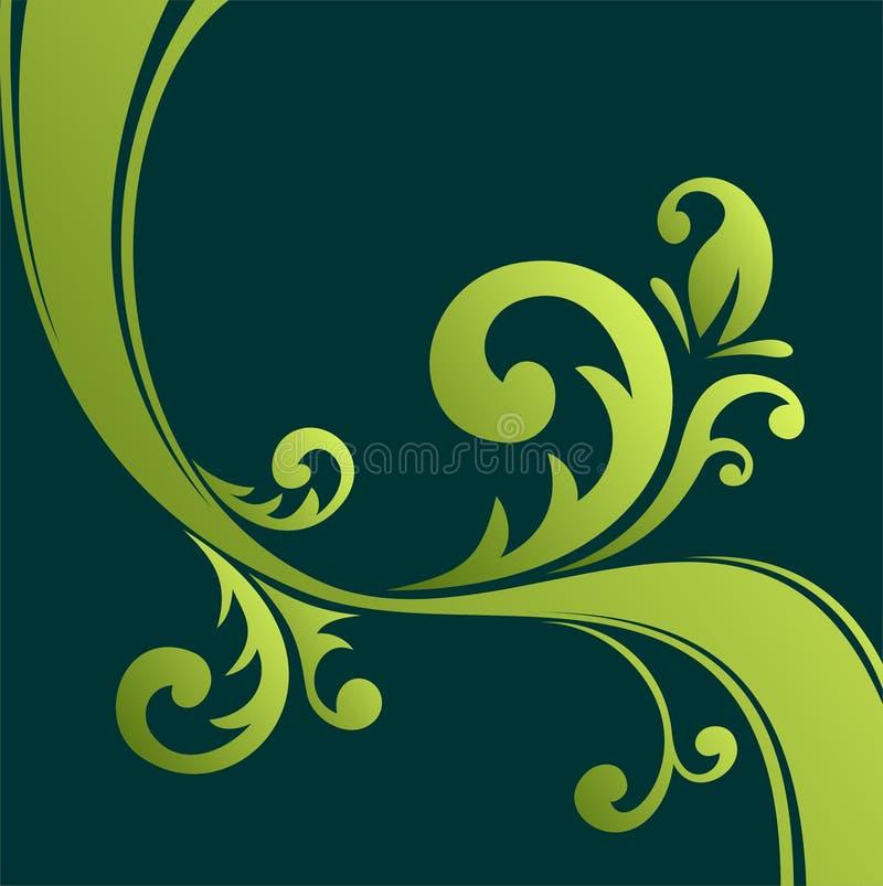 Configuration florale verte illustration libre de droits