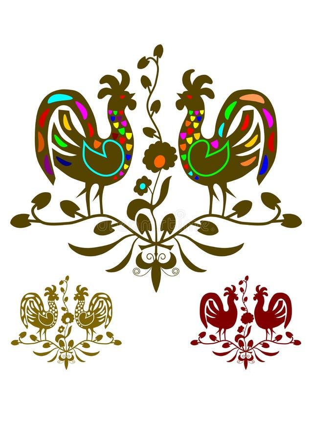 Configuration folklorique illustration stock