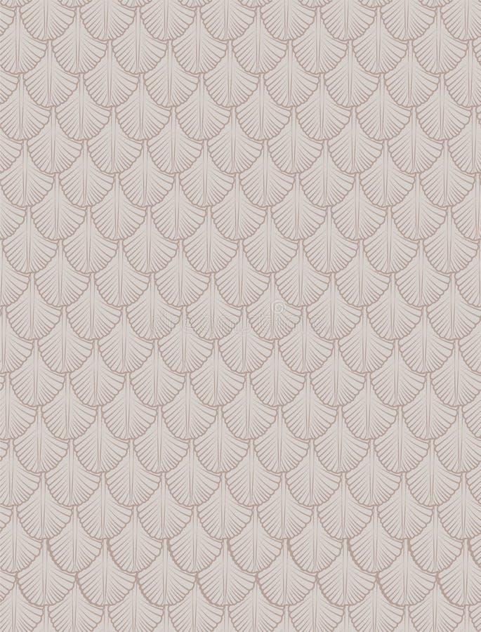 Configuration Fond sans couture ?chelle Coquilles roses illustration de vecteur