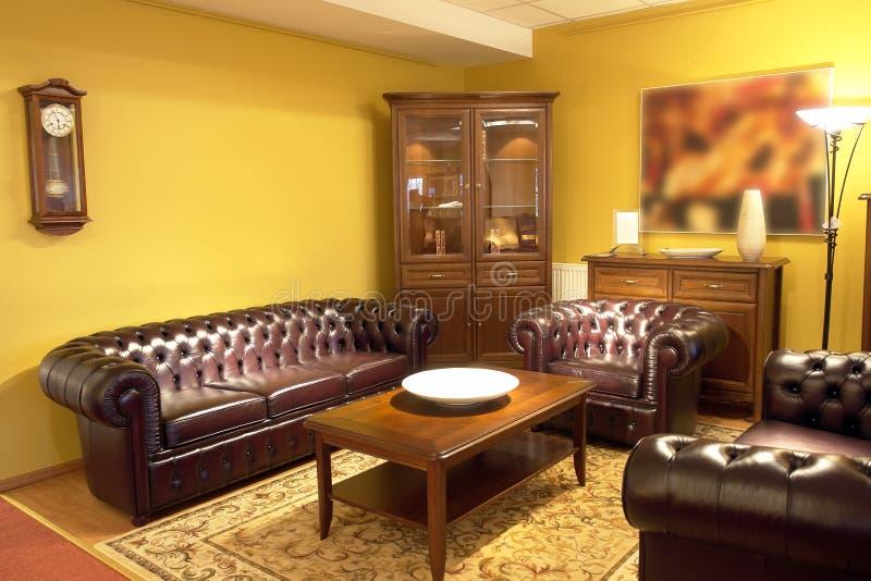 configuration formelle de salle de séjour photos stock