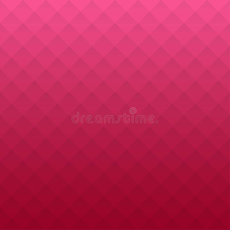 Configuration géométrique abstraite Fond rose de triangles Écran protecteur illustration libre de droits