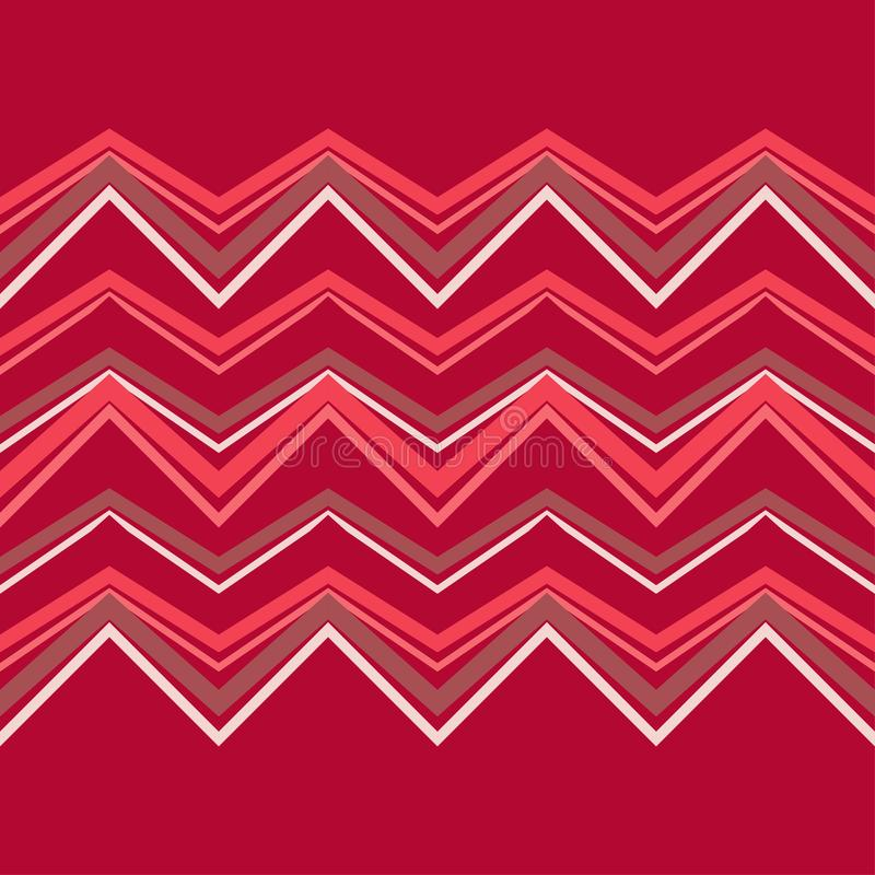 Configuration géométrique abstraite sans joint Texture de mosaïque Texture de zigzag illustration de vecteur