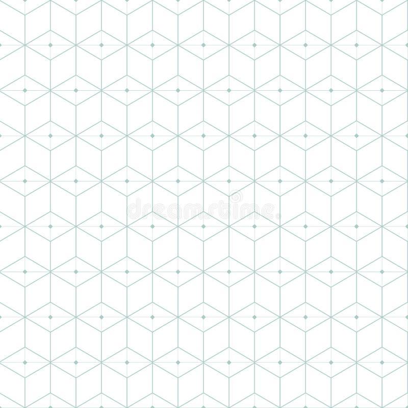 Configuration géométrique bleue Répétition géométrique illustration libre de droits