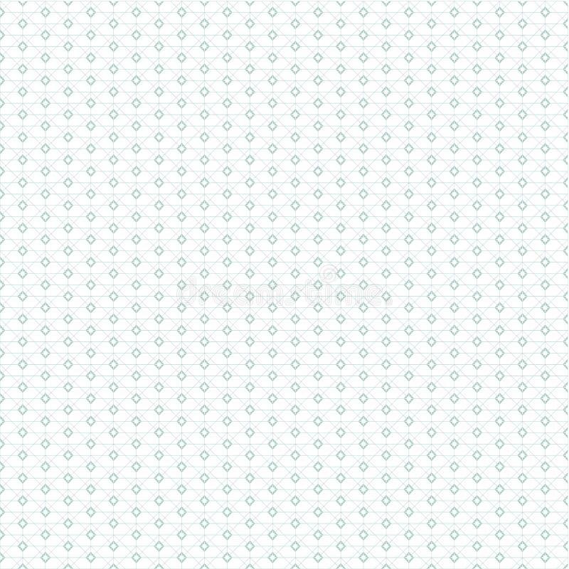 Configuration géométrique bleue Répétition géométrique illustration stock