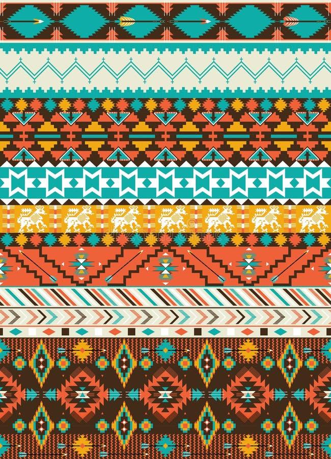 Configuration géométrique de Navajo sans joint illustration libre de droits
