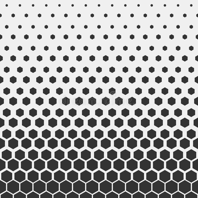 Configuration géométrique Modèle hexagonal d'impression de conception de mode de hippie Nids d'abeilles noirs sur un fond clair V illustration stock