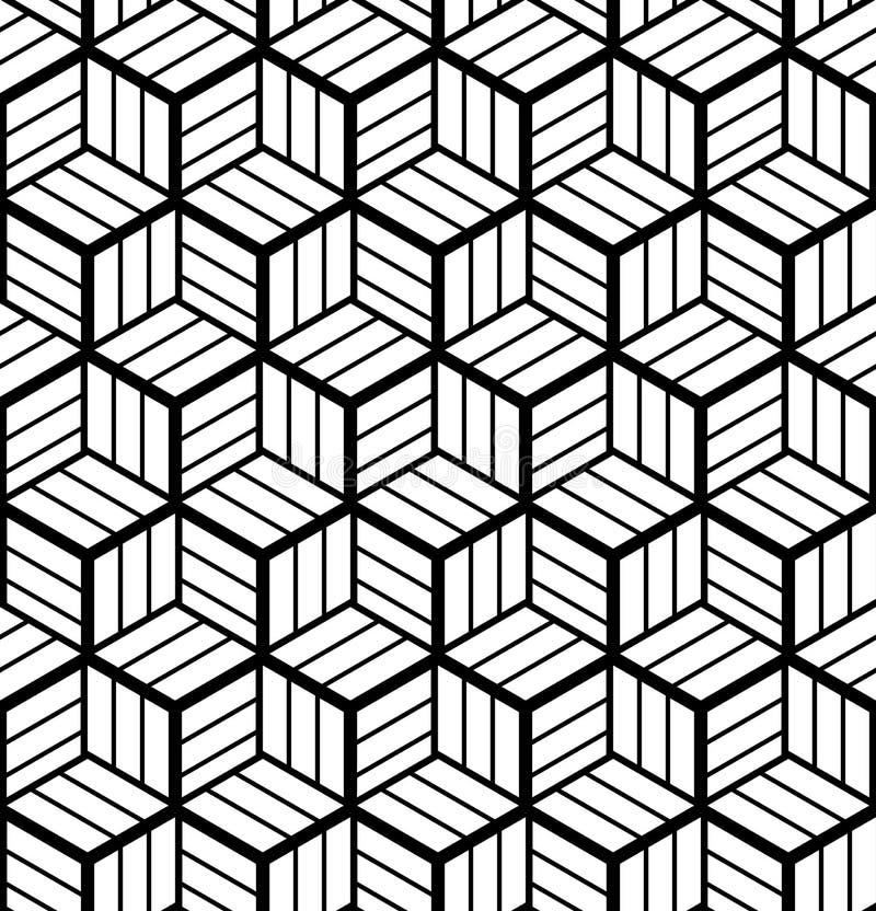 Configuration géométrique sans joint d'art op illusion 3D illustration de vecteur