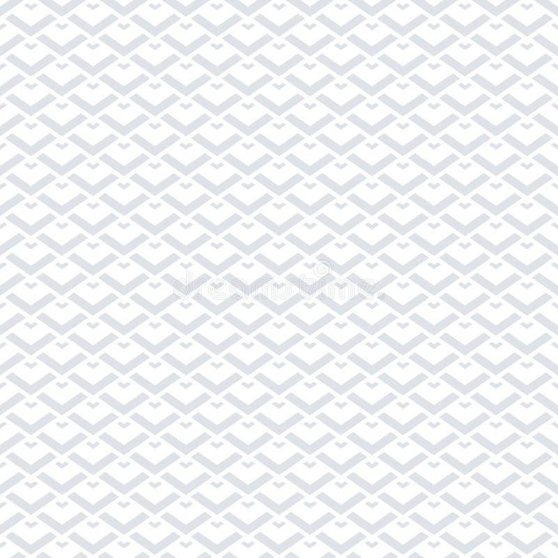Configuration géométrique sans joint Fond blanc illustration stock