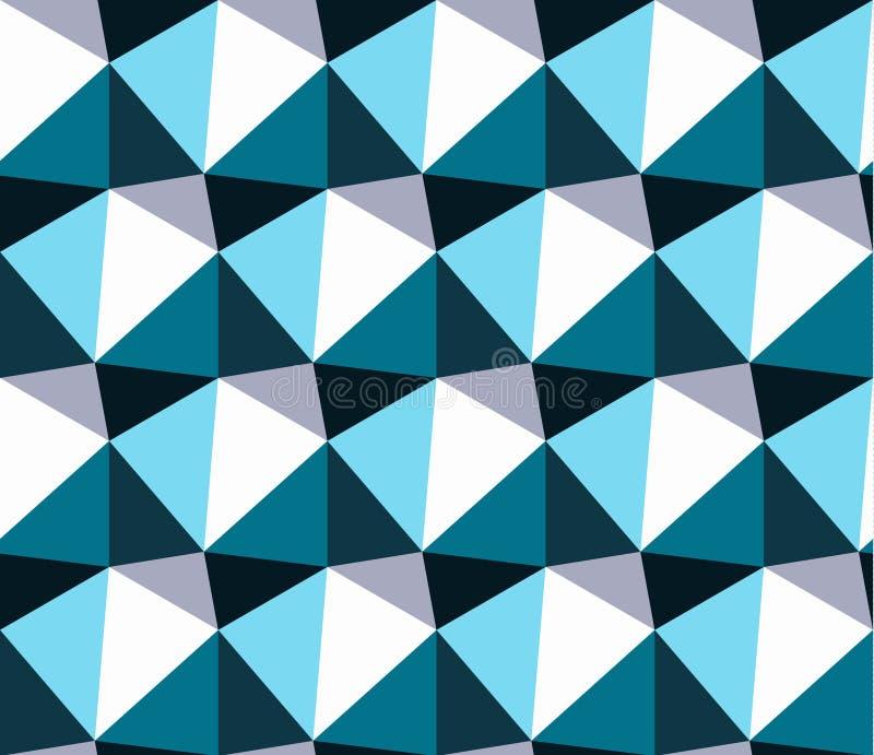 Configuration géométrique sans joint Fond géométrique de triangle abstraite bleue illustration de vecteur