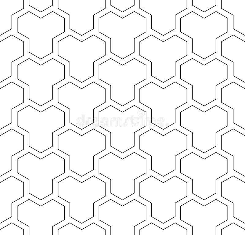 Configuration géométrique sans joint Fond texturisé blanc illustration stock