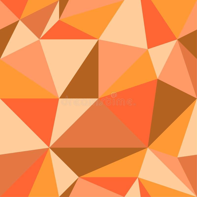 Configuration géométrique sans joint Les triangles oranges Grandes formes géométriques colorées Illustration de vecteur illustration libre de droits