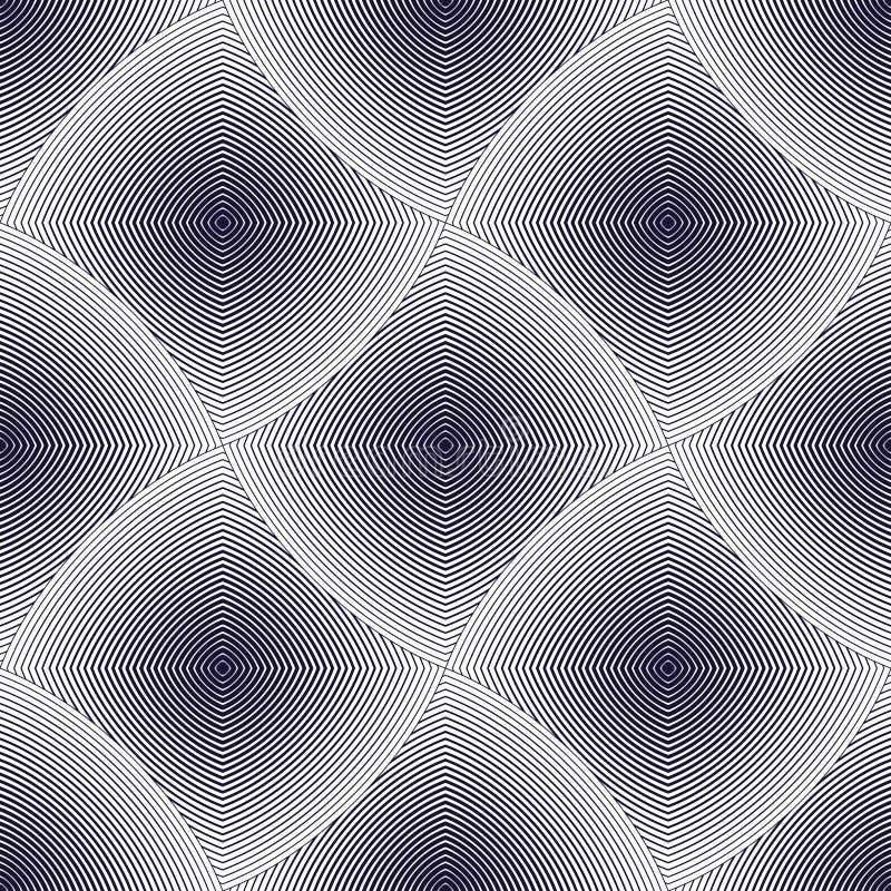 Configuration géométrique sans joint Prin simple géométrique de tissu de mode illustration stock