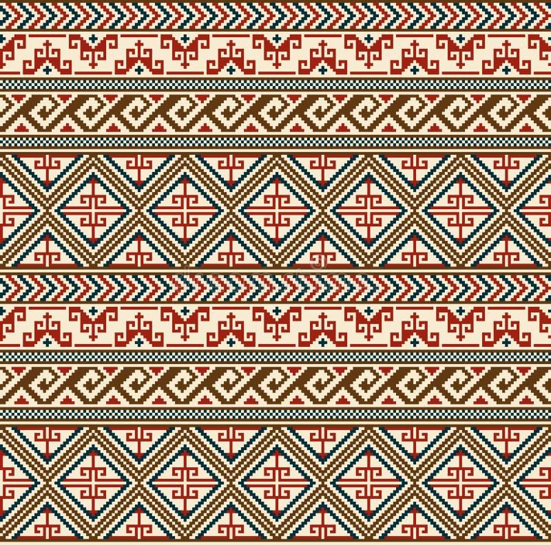 Configuration géométrique sans joint Style ethnique d'Indiens d'Amerique illustration libre de droits