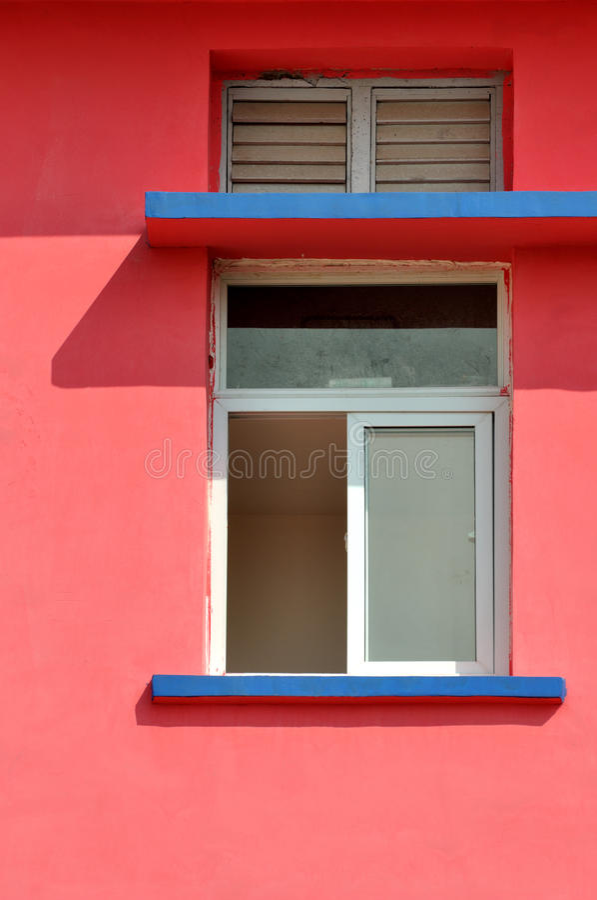 Configuration Géométrique Sur L Architecture Colorée Photos libres de droits