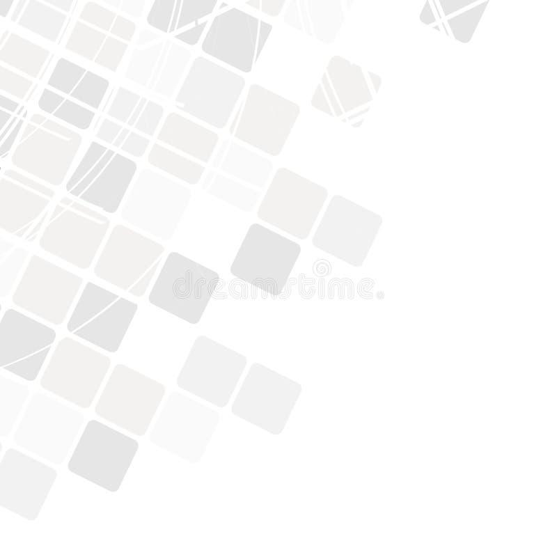 Configuration géométrique Texture moderne dans le monochrome Réseau gris Tuiles élégantes des places Fond abstrait sur la couvert illustration de vecteur