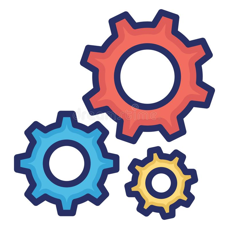 Configuration, gear Isolated Vector Icon Which can easily modify or edit royalty free illustration