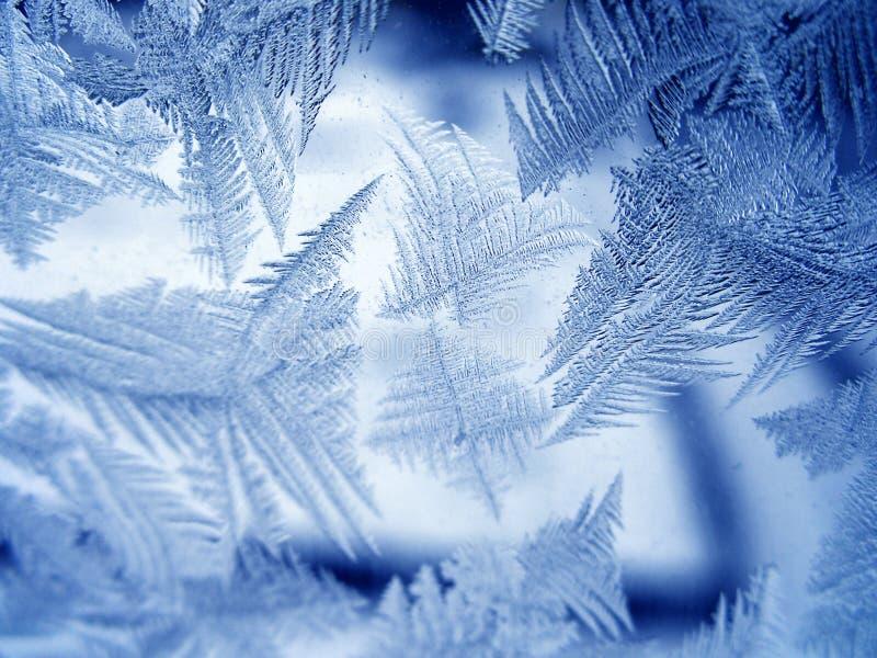 Configuration glaciale sur la glace photographie stock libre de droits