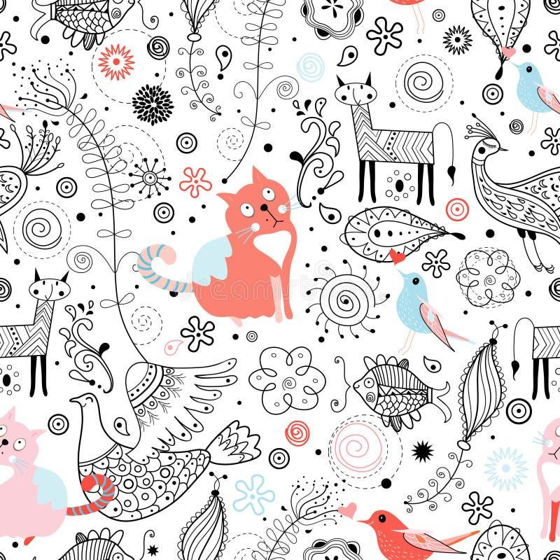 Configuration graphique des animaux illustration libre de droits