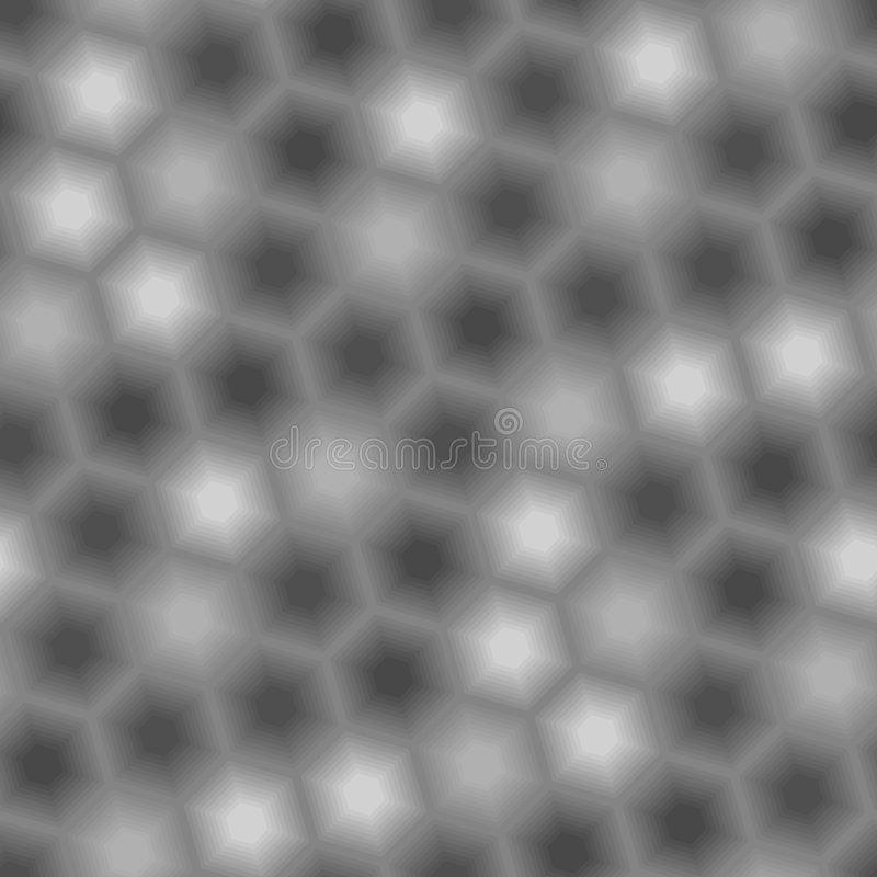 Configuration grise sans joint d'hexagone illustration de vecteur