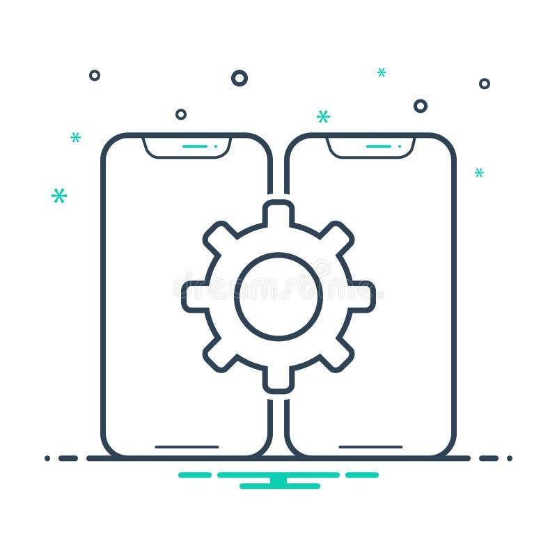 Black mix icon for Configuration, assortment and taxonomy. Black mix icon for Configuration, classification, smartphone, logo,  assortment and taxonomy vector illustration