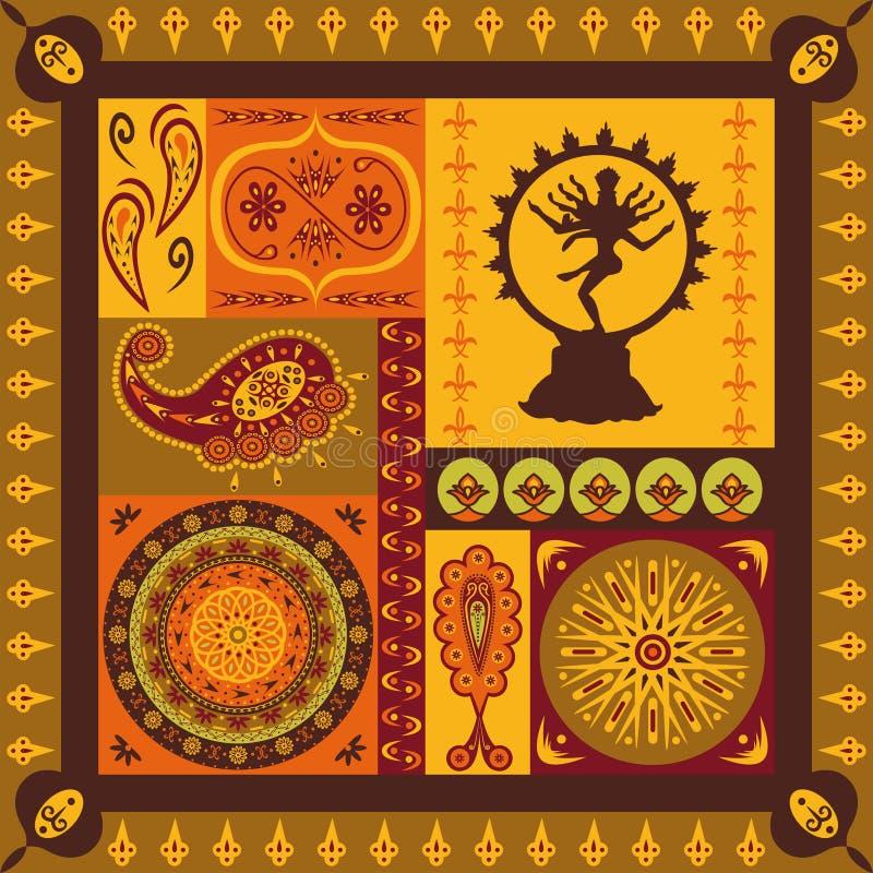 Configuration indienne illustration stock