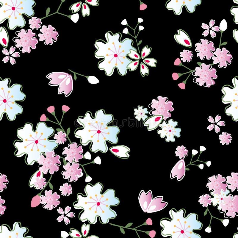 Configuration japonaise de fleurs illustration libre de droits