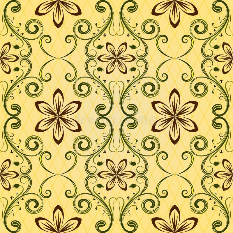 Configuration jaune sans joint illustration stock