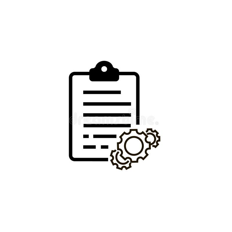 Configuration list vector icon. On white background stock illustration