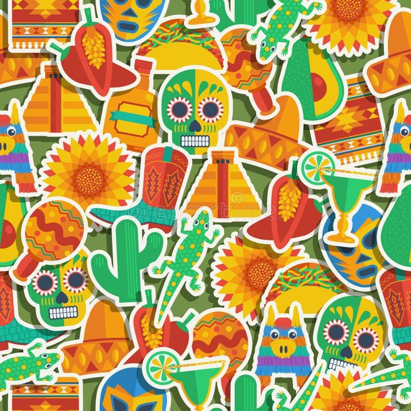 Configuration mexicaine illustration libre de droits