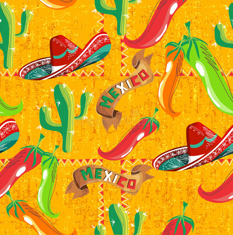 Configuration mexicaine de graphismes illustration stock