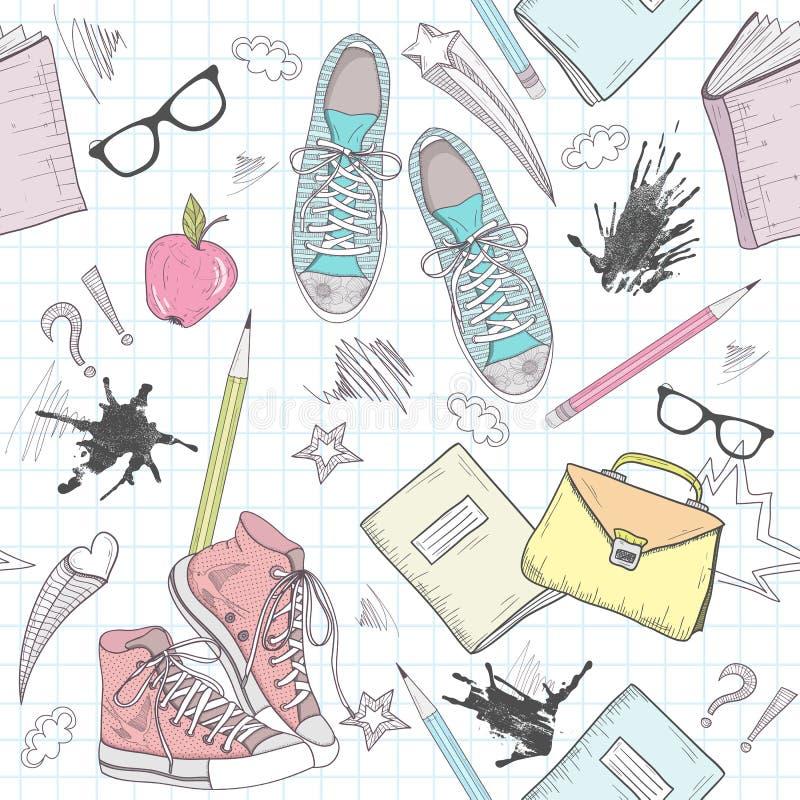 Configuration mignonne d'abrégé sur école illustration libre de droits