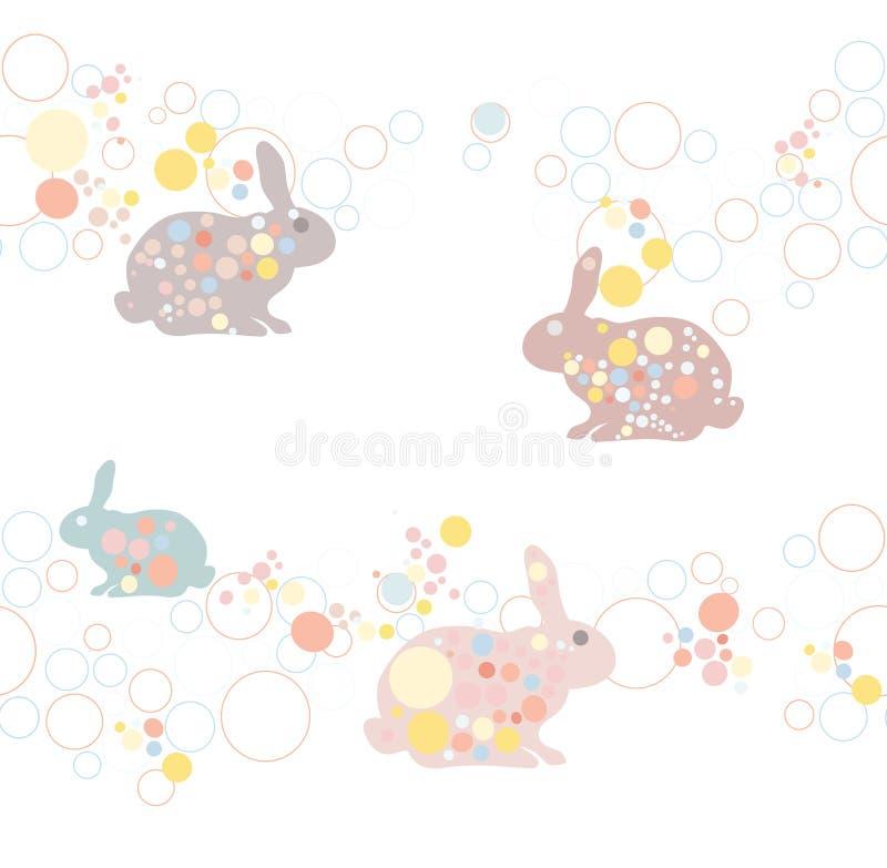 Configuration mignonne de lapin de Pâques. illustration libre de droits