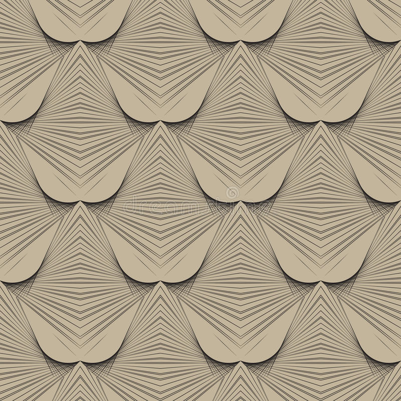 configuration moderne d'art déco géométrique des années 1930 illustration stock