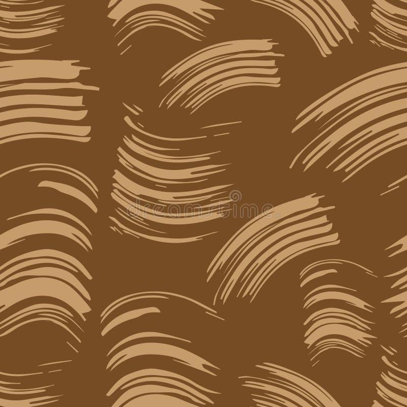 Configuration monochrome sans joint abr?gez le fond Empreinte, tache, calomnie, tache de brosse de mascara Copies beiges d'impres illustration stock