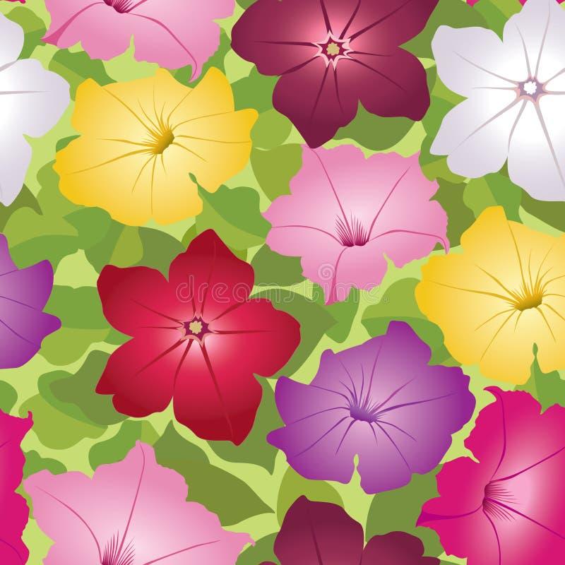 Configuration multicolore sans joint avec les fleurs blanches illustration libre de droits