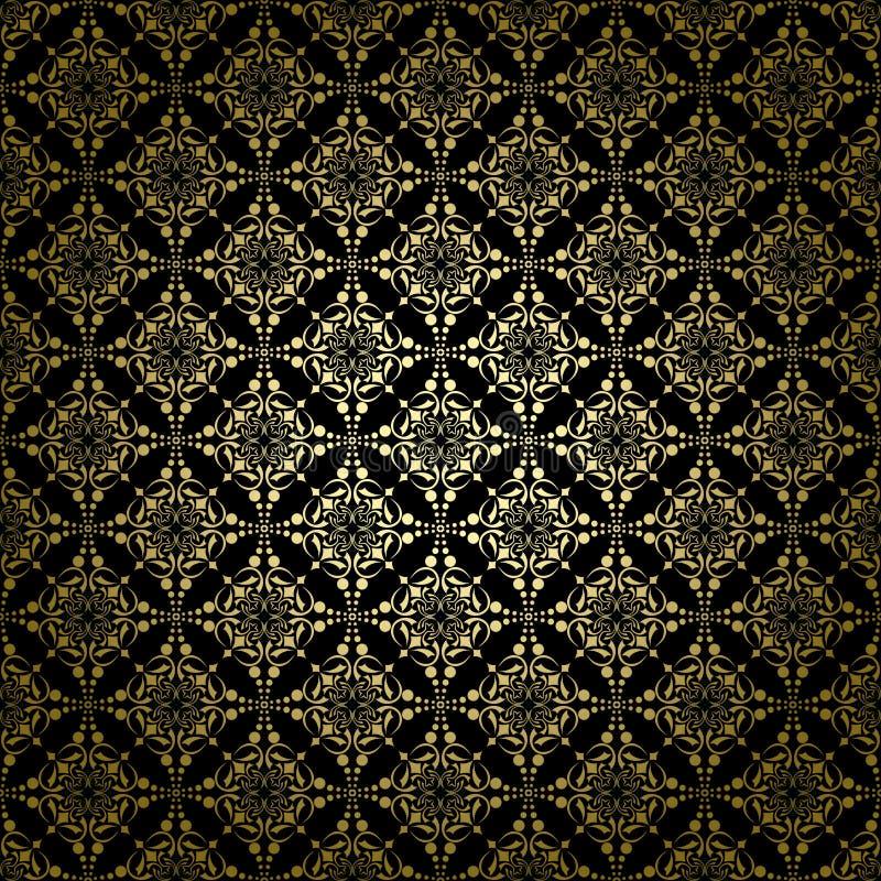 Configuration noire de vecteur de cru avec le gradient radial illustration stock