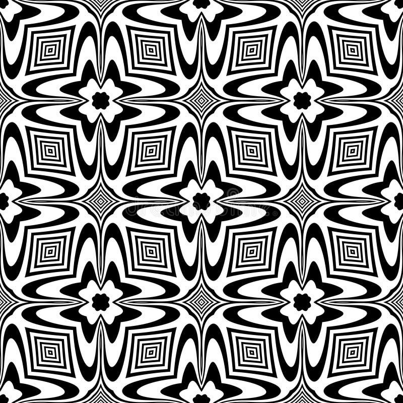 Configuration noire et blanche sans joint illustration stock