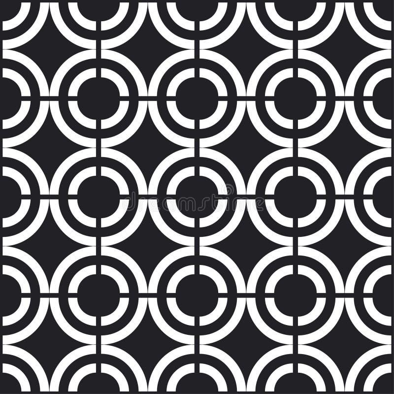 Configuration noire et blanche sans joint illustration libre de droits