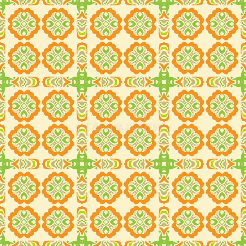 Configuration orange de papier peint illustration stock