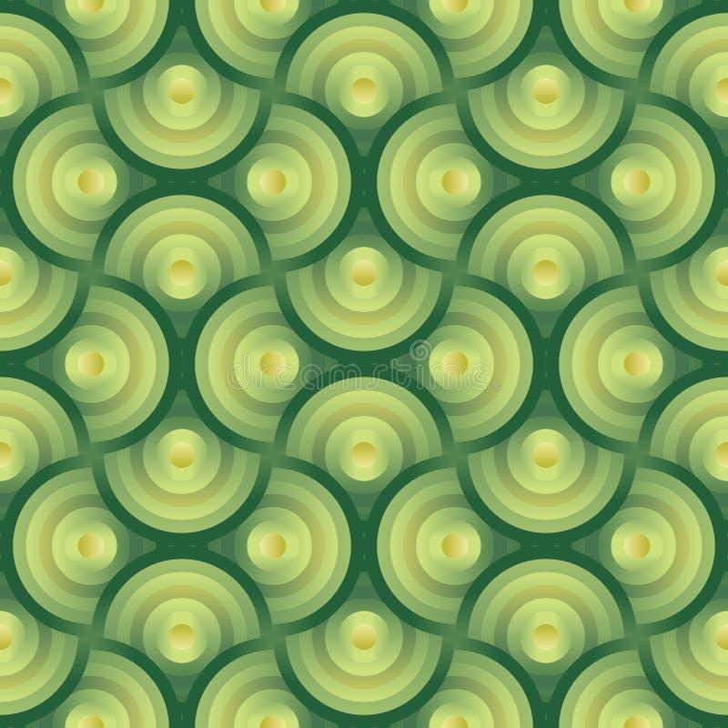 Configuration organique W de vecteur de fond sans joint de vert illustration libre de droits