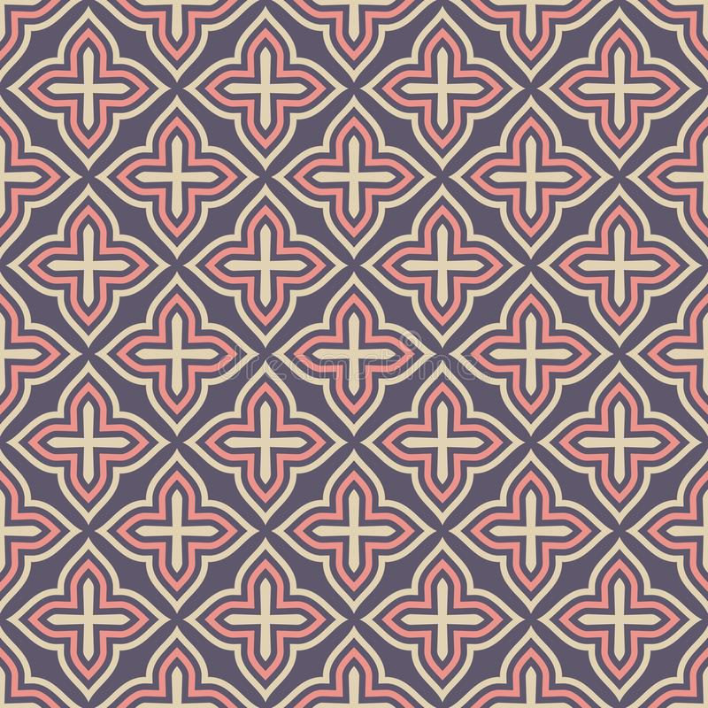 Configuration ornementale sans joint de vecteur style Arabe Motif traditionnel texture élégante moderne illustration stock