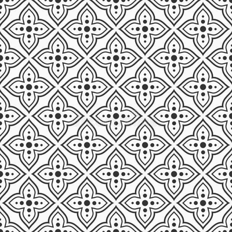 Configuration ornementale sans joint de vecteur style Arabe Motif traditionnel texture élégante moderne Carrelages illustration stock