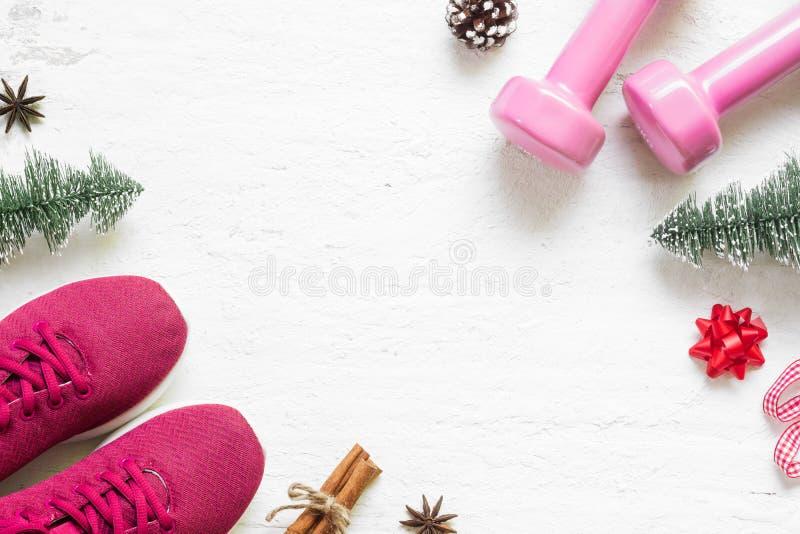 Configuration plate de Joyeux Noël et de bonne année pour sain et a photo stock