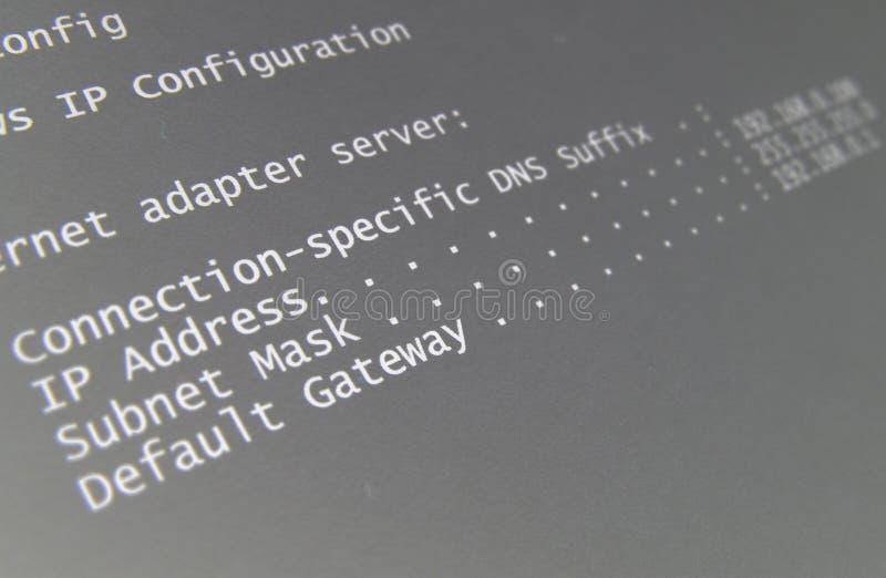 Configuration réseau image libre de droits