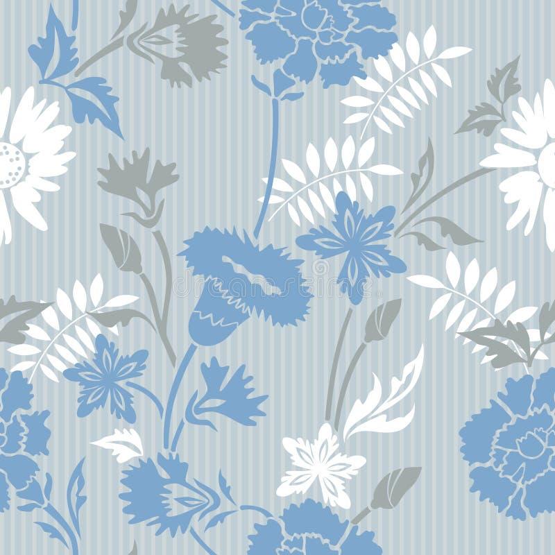 Configuration rayée florale illustration de vecteur