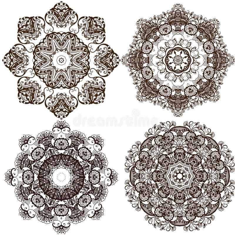 Configuration ronde d'ornement de mandala illustration libre de droits