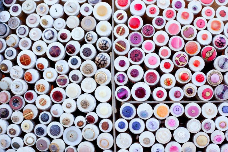 Configuration ronde de cadres d'affichage coloré de boutons photo stock